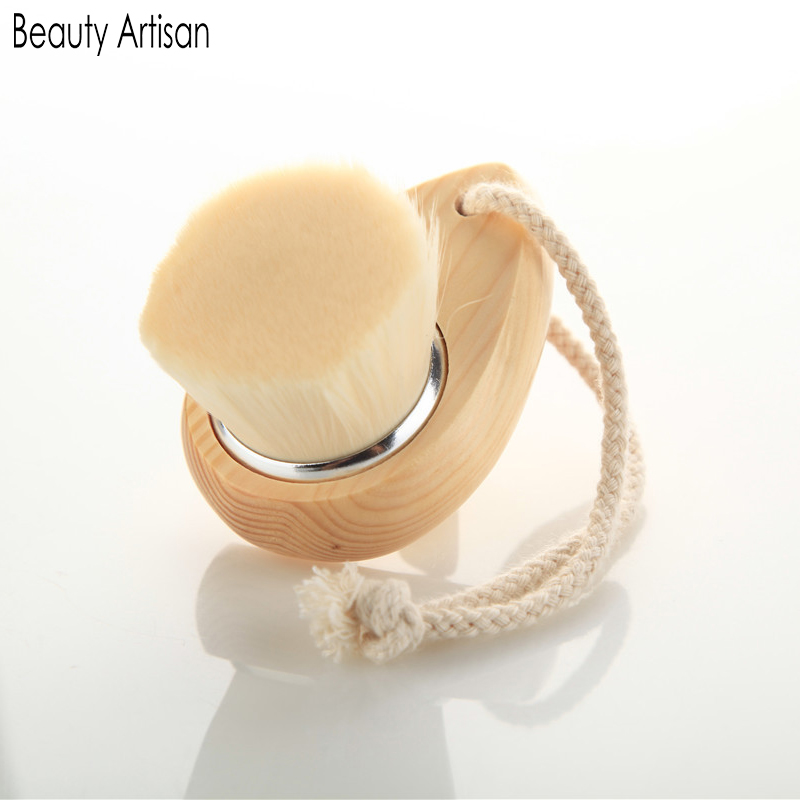 Beauty Artisan Face Cleansing Pores Brush Skin Care Deep Cleanse Natural Fibres Exfoliator Facial Brush with