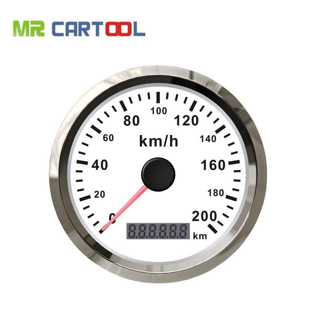 85 мм GPS спидометр Водонепроницаемый Датчик из нержавеющей 200км/ч скорости для автомобиля грузовик 12В 24В