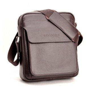 e159bb5cb45 Santa Goff leather shoulder bag leather man bag genuine leather bag men s  business bags