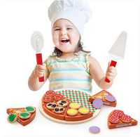 MamimamiHome Baby Wooden Kitchen Role Play Toys Wooden Simulation Pizza Toy For Children Pretend Play Kitchen