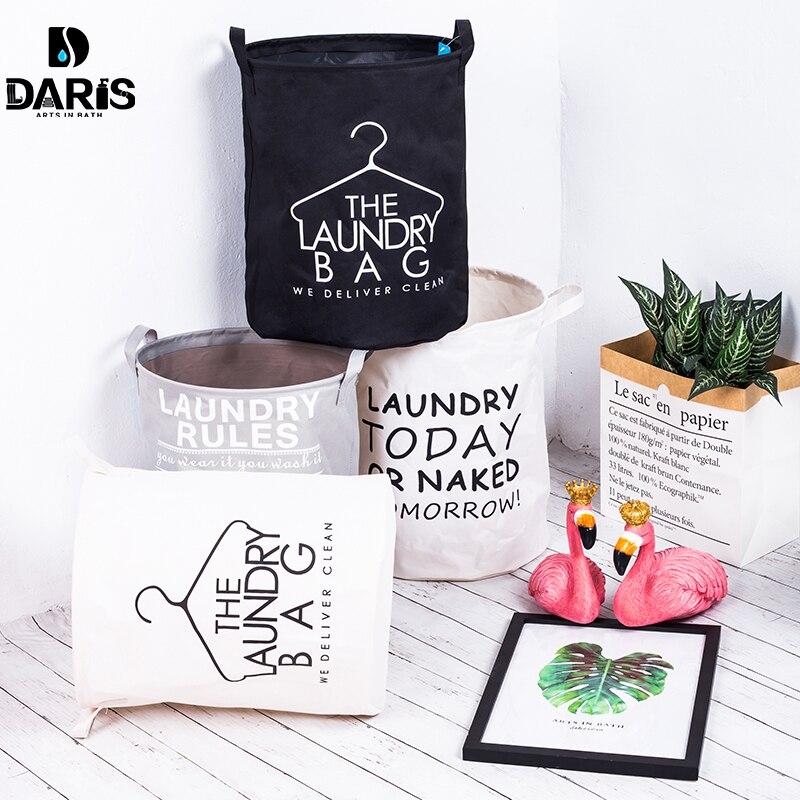 SDARISB Mode Stoff Wäsche Korb Tasche Schmutzig Beutel Klapp Wäsche Lagerung Korb Armband Wäsche Tasche Bad Produkt
