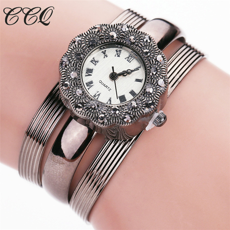 где купить CCQ Luxury Brand Fashion Leather Bracelet Watches Women Casual Quartz Watch Vintage Ladies Wristwatch Relogio Feminino Gift 2020 по лучшей цене