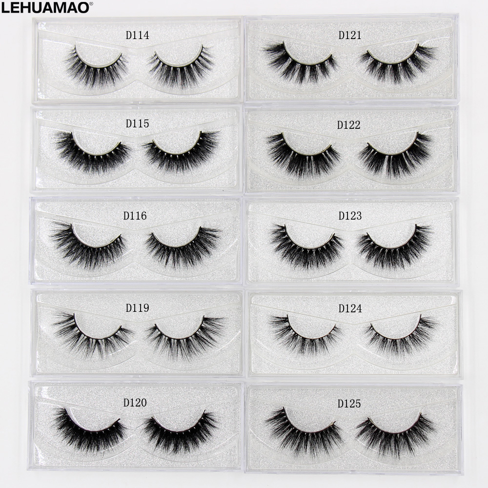 LEHUAMAO 3D Milk Lashes Mink Eyelashes Cross Thick Full Strip False Eyelashes Cruelty Free Make Up Eye Lashes Upper Lashes 1Pair