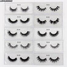 LEHUAMAO 3D Milk Lashes Mink Eyelashes Cross thick full strip False Eyelashes Cruelty Free make up eye lashes Upper Lashes 1Pair