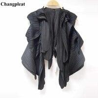 Changpleat 2019 New fashion Women Outerwear Coats Vest Miyak Pleated Solid Sleeveless cardigan Vests Tide