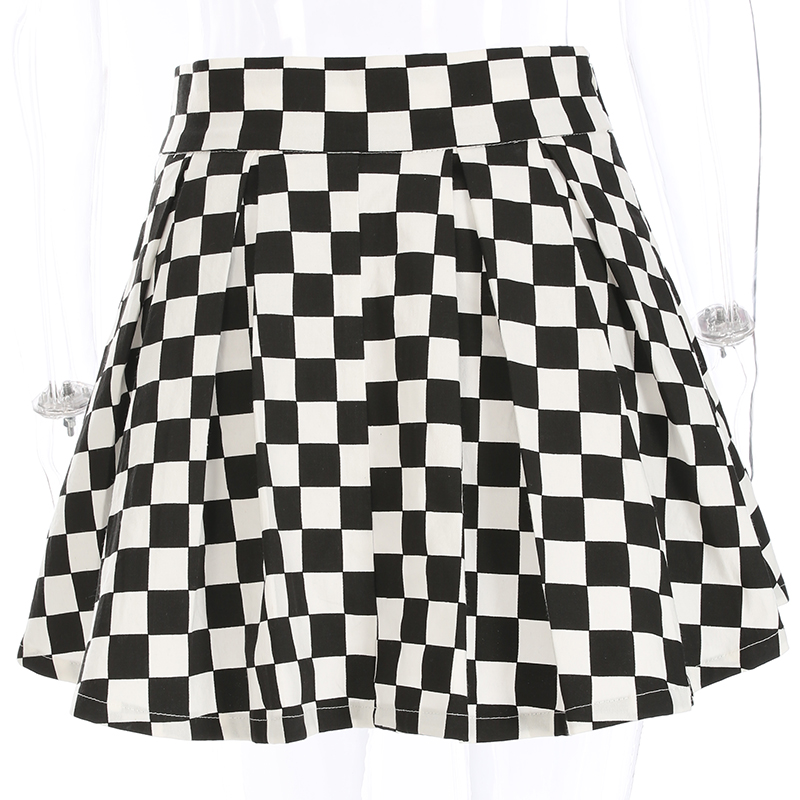 Disweet Pleated Plaid Skirts Womens High Waisted Checkered Skirt Harajuku Dancing Korean Style Sweat Short Mini Skirts Female 13
