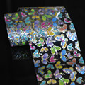 Wholesale Roll  Multi-Color Laser Line Butterfly Nail Art Glue Transfer Foil Tips Decor GL07