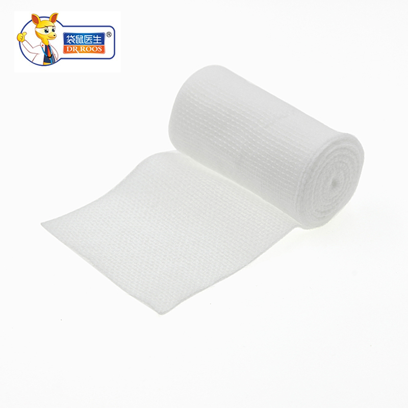 DR.ROOS 5cmx600cm  2 Rolls 1 Roll/bag Medical Cotton Gauze Bandage Roll First Aid Bandage