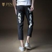 Pinli реальный продукт для похудения ковбойская печатных 2018 новые летние Для мужчин культивировать мораль и ноги девять минут штаны B182416337