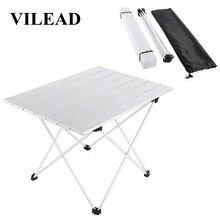 VILEAD 4 색 휴대용 캠핑 테이블 알루미늄 초경량 접이식 방수 야외 하이킹 바베큐 캠프 피크닉 테이블 데스크 안정