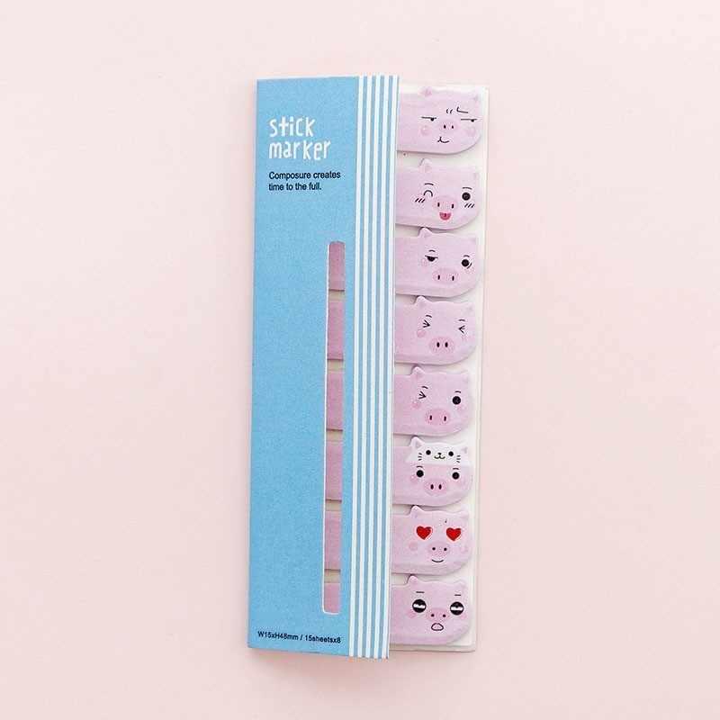 1PCS New Cute Pink Piglet Mini Memo Pad di Carta Post Note Note Appiccicose Notepad Cancelleria Papeleria Ufficio Scuola Forniture