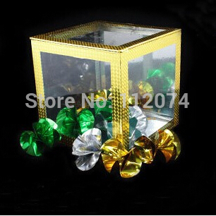Production Box,Flowers From transparent Box Appearing,Instantly Fantastic,20*20*20cm - Magic Tricks,Stage,Gimmick,Comedy,mental