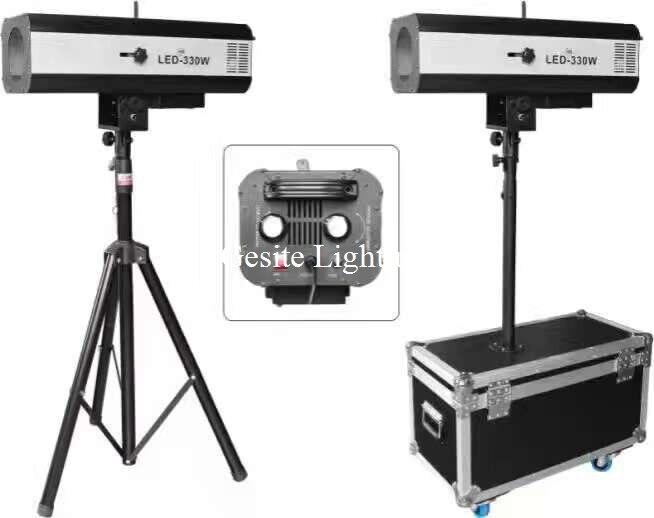 Envío gratis 330 w LED de Seguimiento de Luz Con una Potencia 330 W LED Seguimiento Perseguidor Libre Del Caso Del Vuelo Para La Boda/obra de Teatro