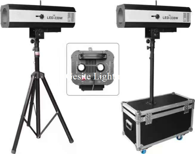 free shipping 330w LED Follow Spot Light With Power 330 W LED Follow Tracker Free Flight Case For Wedding/Theater Performance
