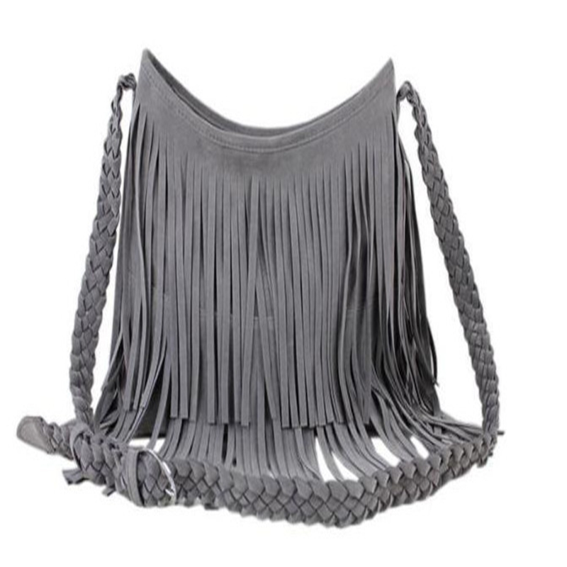 2017 New Women s Bag Tassel Crossbody Bag Fringe Shoulder Bag Handbag  Vintage Designer Ladies Messenger Bags High Quality-in Shoulder Bags from  Luggage ... bc03542eb4