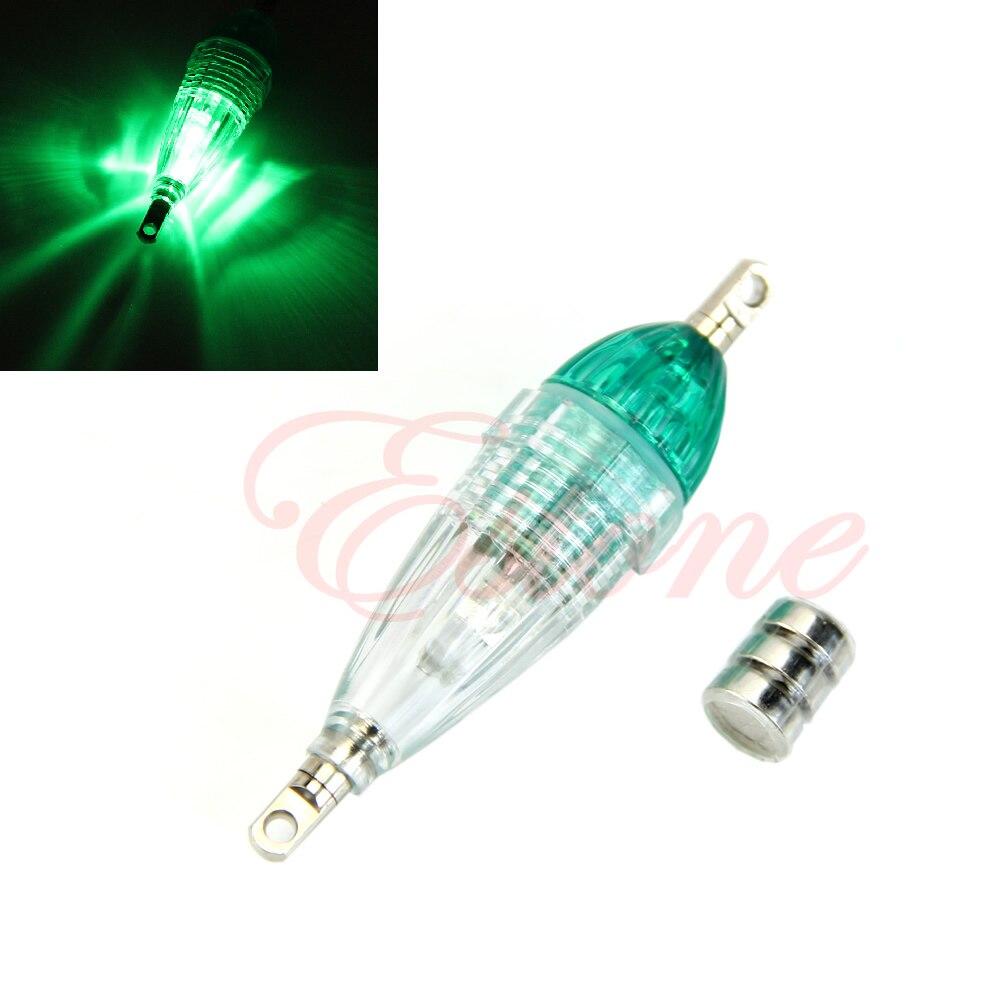 Mini LED Deep Drop Underwater Fishing Squid Fish Lure Light Green Flashing Lamp bait