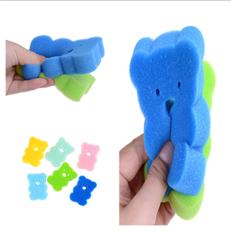 10*7*2.5cm Bath Brushes Towel Accessories Baby Infant Faucet  Wash Brush Bath Brushes Sponges Rub Sponge Cotton Rubbing Body