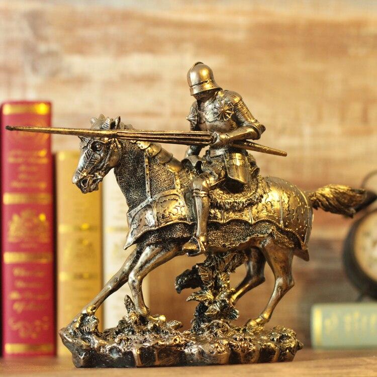 Statues de spartiate dans la Rome antique Rome médiévale spartiate samouraï armure fer modèle vin rétro ornements bar statue décoration
