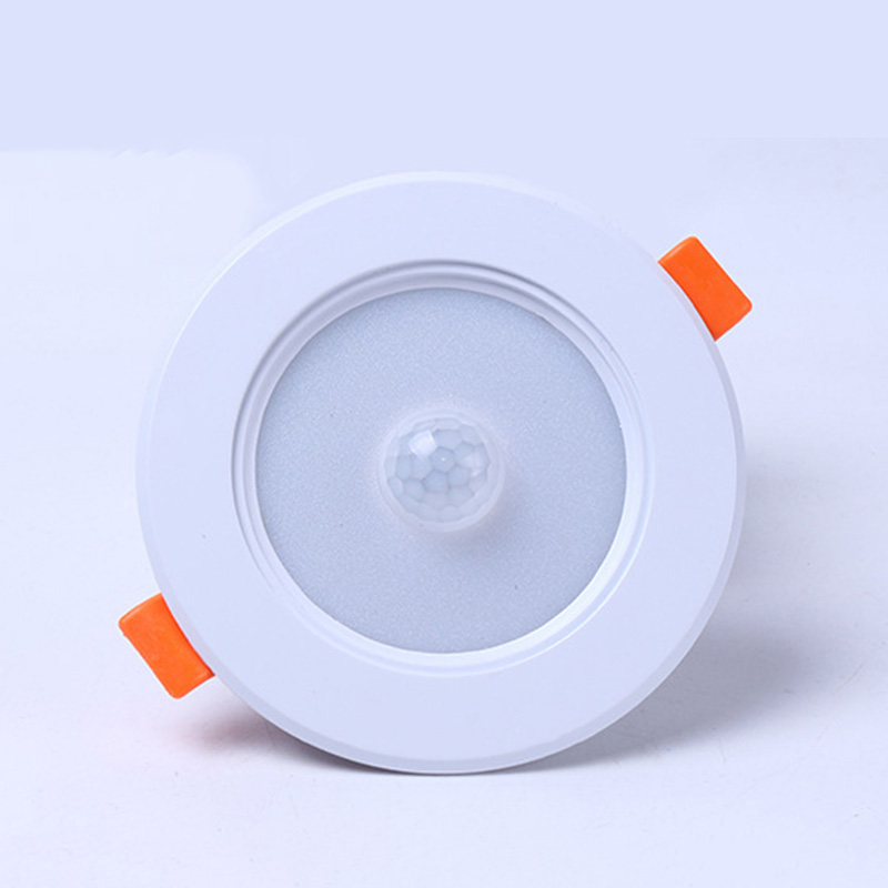 Led Downlight Radar Motion Sensor Light Ceiling Downlights 5W AC 85-265V 2835 Lamps Ceiling Lamp For Home Indoor Living Room new safurance 15w led infrared pir sensor ceiling mount lamp light ac110 265v for room building automation home security page 4