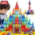 Qwz 164 pçs mini magnético designer conjunto de construção modelo & construção brinquedo plástico blocos magnéticos brinquedos educativos para crianças presente