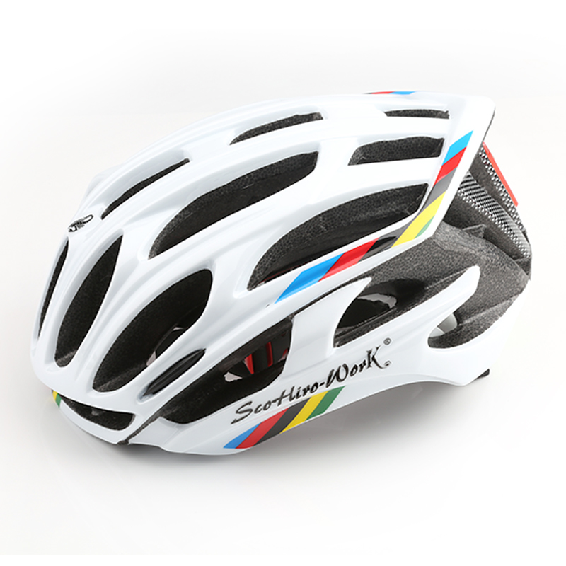 цена на Bicycle Helmet Integrally-molded Cycling Helmet Road Mountain MTB casco ciclismo Ultralight Bike Helmet With LED Warning Lights