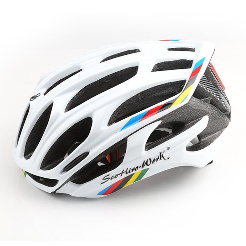 Bicycle Helmet Integrally-molded Cycling Helmet Road Mountain MTB casco ciclismo Ultralight Bike Helmet With LED Warning Lights