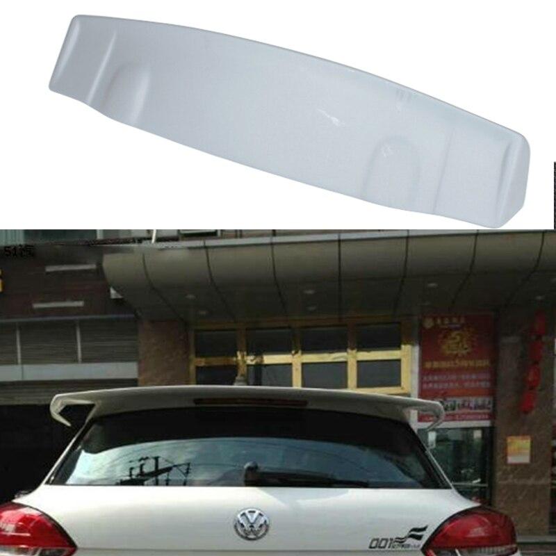 Votex estilo unpainted fiberglass traseiro telhado asa spoiler para volkswagen vw scirocco scirocco 2010 ~ 2014 (não para r)