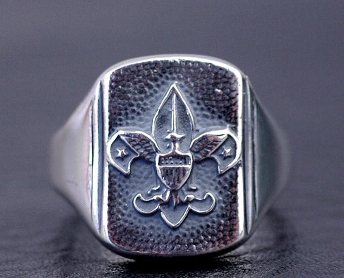 Import Thailand, anker design, die alte weisen Thai silber ring schwanz ring