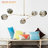 Globe Branching Bubble Chandelier 110V220V Nordic Modern Chandelier Light Lighting Pendent Lamp Glass Ball Lamp