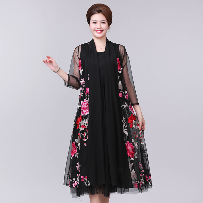 Summer New Medium Long Shawl Embroidered Jacket plus size S 5XL Women 39 s National Style Heavy Duty Embroidered Jacket Cardigan in Trench from Women 39 s Clothing