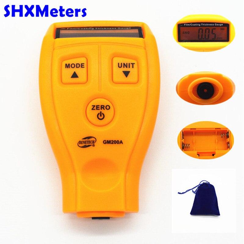 Nuovo originale GM200A Digital Coating LCD Calibro di Spessore Car spessore tester Misuratore di Spessore di Vernice Auto auto Strumento Diagnostico