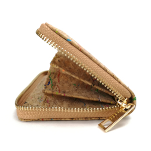 Image 2 - Rustic Natural Color Long Women Cork Wallet Vegan Credit Card ID Holder Classic Women Wallet