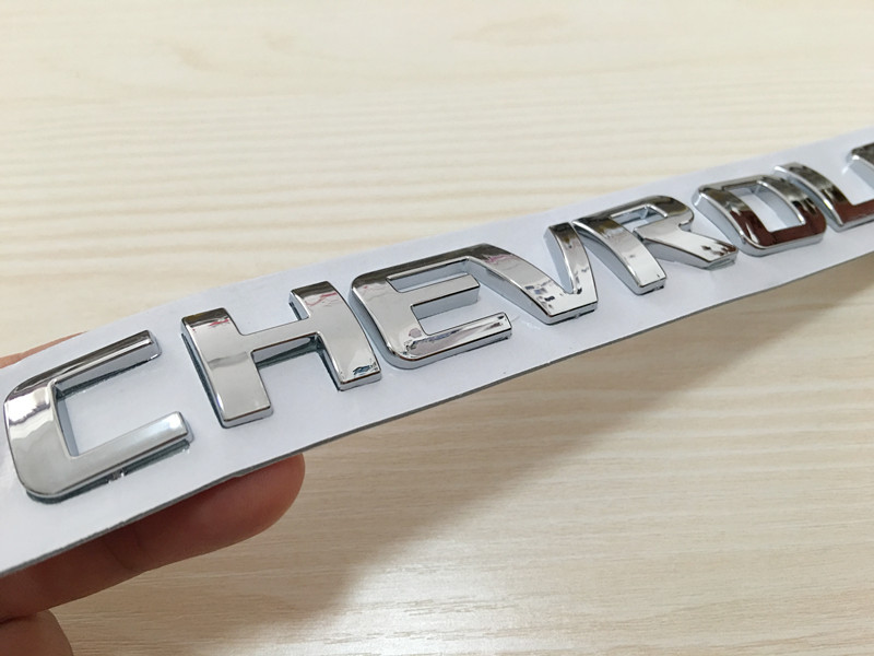 3D ABS Car letter rear trunk Badge Sticker Logo Decals car styling for Cruze Aveo Silverado MALIBU CAPTIVA Camaro-in Car Stickers from Automobiles & Motorcycles