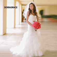 vestidos de novia Romantic Sweetheart Lace-Up Organza Mermaid Wedding Gowns Designer Dresses DG0089
