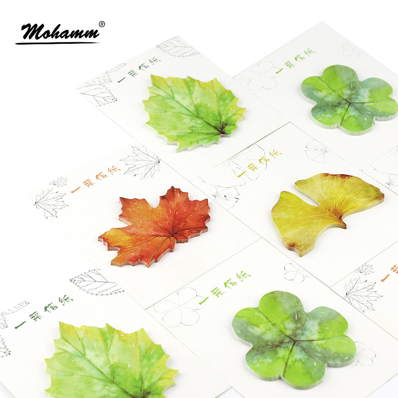 30 sheets/lot Four Seasons Of The Leaves Notebook Memo Pad Self-Adhesive Sticky Notes Office School Supplies Post It Memo Pad kitfel58024unv35668 value kit fellowes polyester mouse pad fel58024 and universal standard self stick notes unv35668