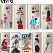 Christmas Queen Princess Girl Baby Etiu Fundas For Samsung Galaxy S8 case samsung s10 S6 S7 Edge S9 Plus S10 Lite Cover TPU