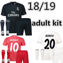 37c63976f 2018 adult football shir Top Best Qualit Realed Madrided shirts 18 19 Home Away  3RD