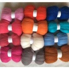 WFPFBEC шерсть для валяния 120 г 12 цветов 10 г/цвет Шерсть-ровинг волокно игольчатый войлок