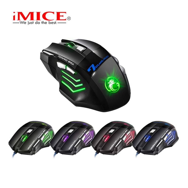 Nuevo iMice 7 Botones 5500 DPI LED Ratón de juego óptico USB con - Periféricos de la computadora - foto 2