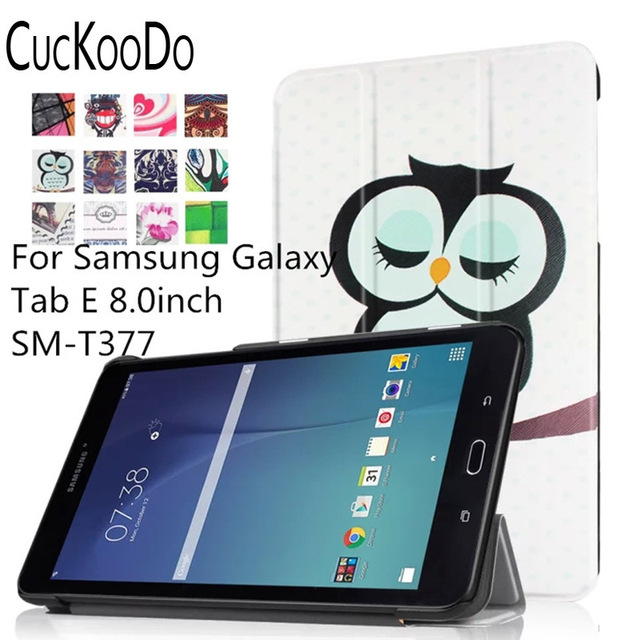 free shipping 53d4b 1ee7c US $9.22 16% OFF|CucKooDo Ultra Slim Lightweight Standing Cover for Samsung  Galaxy Tab E 8