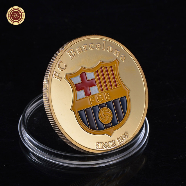 Rare Gold Plated Lionel Messi Number 10 Barcelona Coin Argentina Soccer Souvenir Gifts /w Plastic Case for Birthday Item