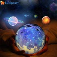 Starry Sky Magic Star Moon Planet Rotating Projector Lamp LED Night Light Cosmos Universe Luminaria Baby