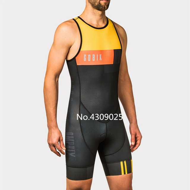 2018 GOBIK custom Triathlon Outdoor sport skin riding suit Tour de France  pro Swimsuit team Running suit cycling jersey skinsuis 2137b1278