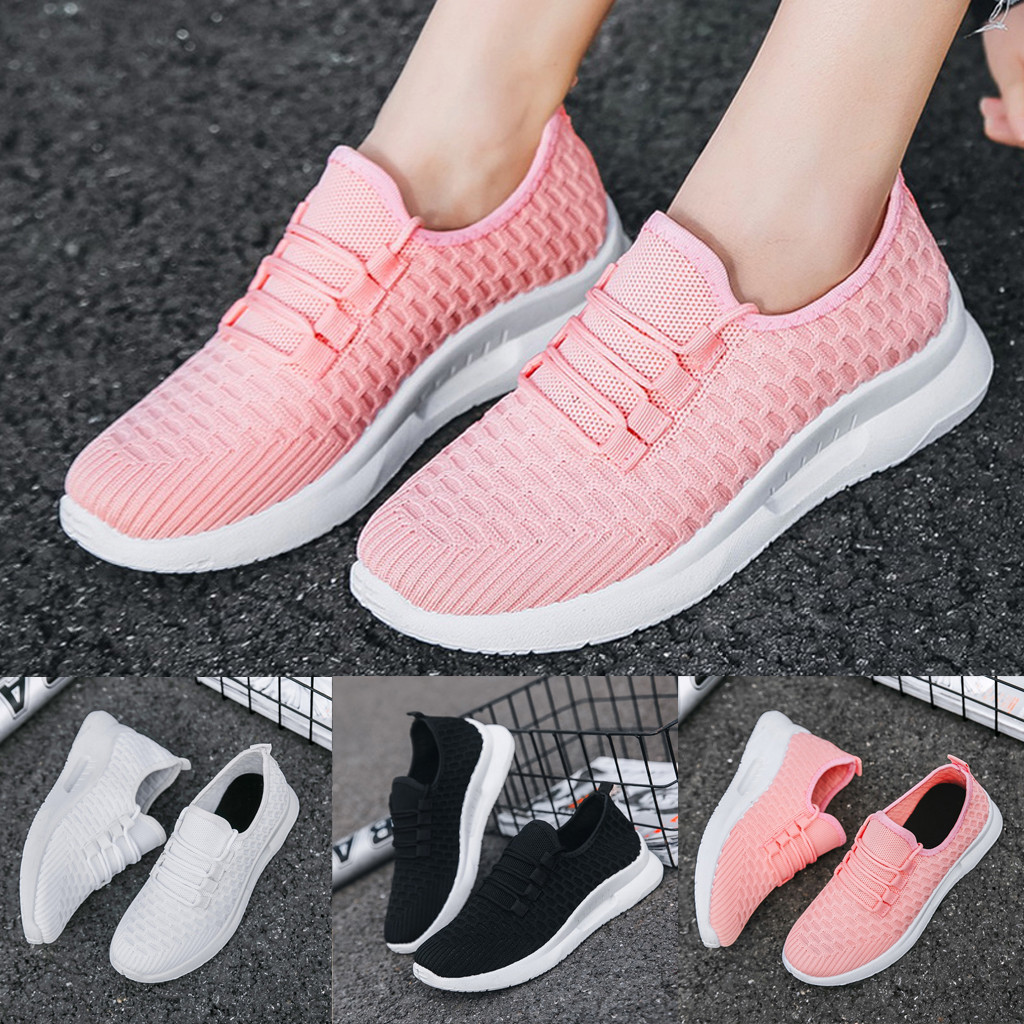 Running-Shoes Sneakers Women Non-Slip Woman Breathable for Flyknit Outdoor Walking Jogging