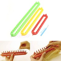 New ABS Plastic Loom For Scarf Shawl Hat Socks Long Knit Knitter Knitting 3 Size-