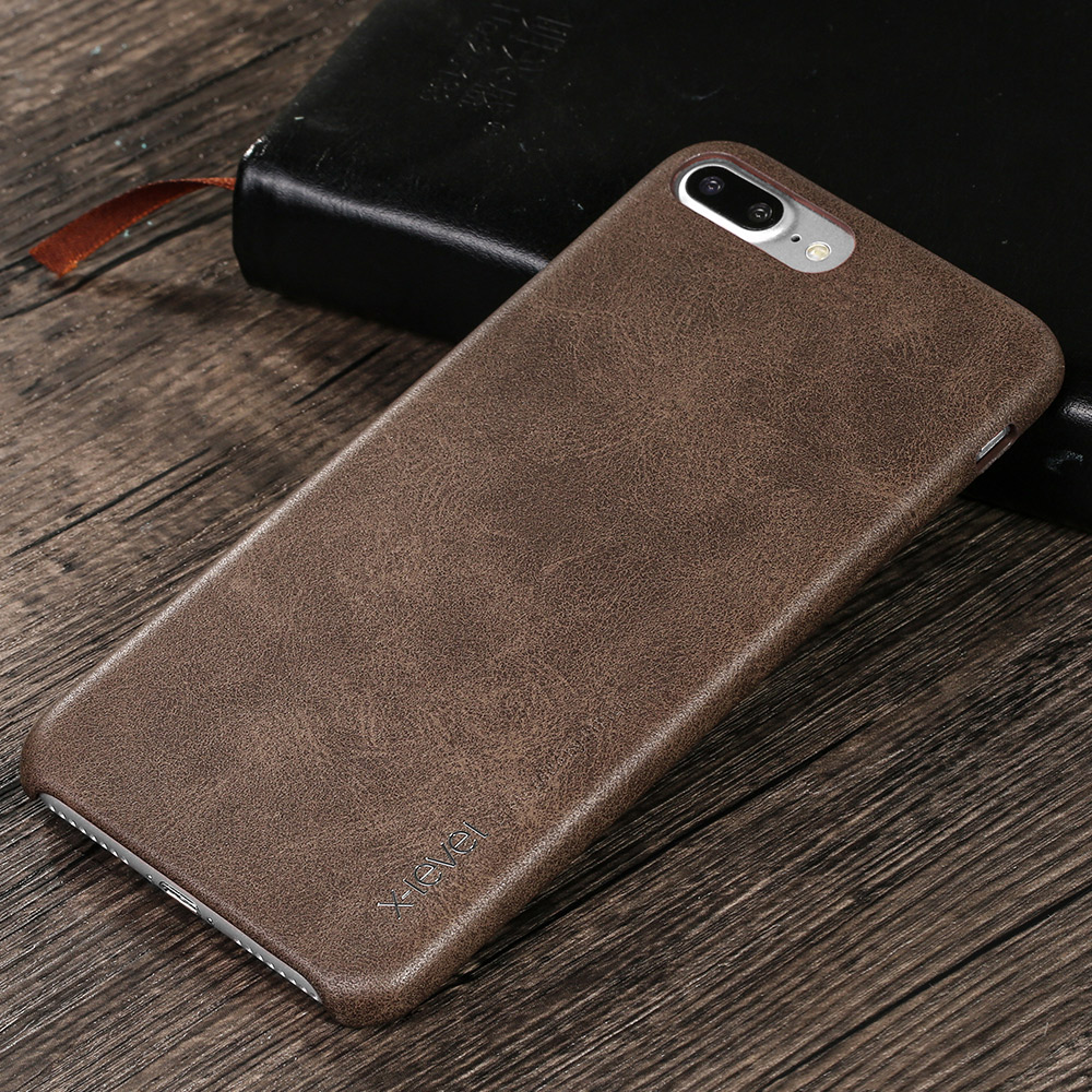 X-Level Luxury Retro PU Leather Case For iPhone 7 Plus/8 Plus Back Case Cover for iPhone 7Plus 8Plus Vingate Leather Case