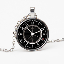 Fashion Wrought Iron Clock Glass Necklace Charm Wall Time Gift Retro Private Custom Friend Souvenir Toy