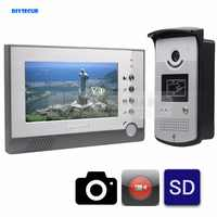 DIYSECUR Video Record / Photograph 7 inch Wired Video Door Phone Doorbell Home Security Intercom System RFID Camera Night Vision