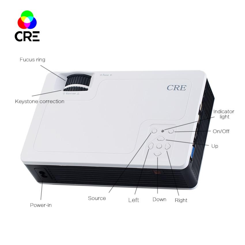 CRE X1600 HD Led Video Projector Home Projector Low Cost Small 3D projector led projektor vga hdmi professional projectors tvs