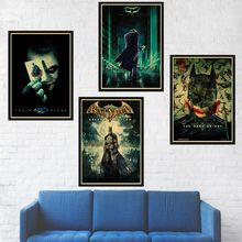 Joker Batman The Dark Knight Superheroes Movie Posters Art Prints Poster Wall Sticker for Living Room Decoration(China)